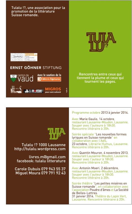 Notre programme jusqu'à janvier 2014 !