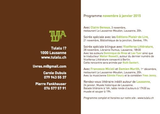 Programme 2014-2015