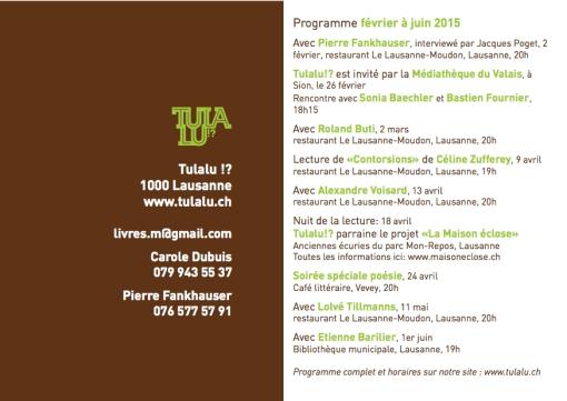 Nouveau programme février-juin 2015