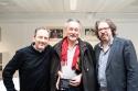 Christophe Fovanna, Jacques Roman et leur éditeur, Stéphane Fretz © Gustave Deghilage – Ville de Lausanne