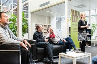 Pierre Fankhauser, Christophe Fovanna, Jacques Roman et Isabelle Falconnier © Gustave Deghilage – Ville de Lausanne